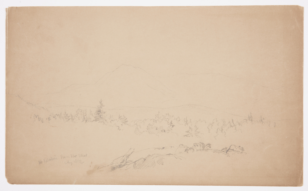 Drawing of view of Mount Katahdin from east.