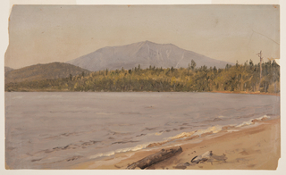 Drawing, Mt. Katahdin from Togue Pond, possibly 1878