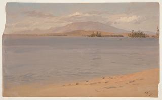 Drawing, Mount Katahdin from Lake Millinocket