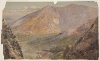 Drawing, Mt. Katahdin, Great Basin from South Turner Mountain, 1877