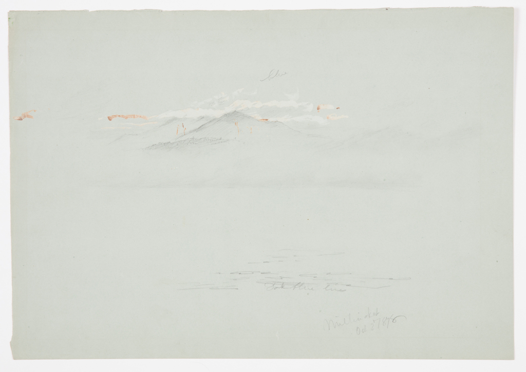 Drawing, Lake Millinoket and Mount Katahdin, 1878