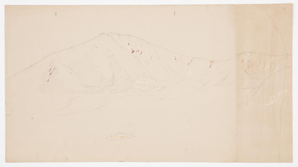 Drawing, Mt. Katahdin from Southeast; Verso: Mt. Katadhin, 1876–78