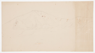 Drawing, Mt. Katahdin from Southeast; Verso: Mt. Katadhin, 1876–78
