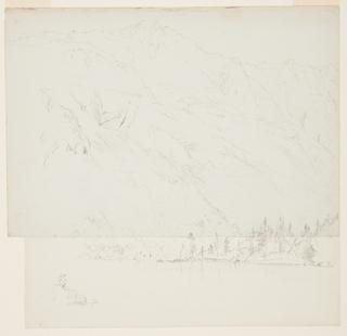 Drawing, Mt. Katadhin, Maine, 1870–78