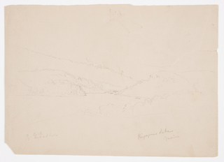 Drawing, Ripogenus Lake, ca. 1855