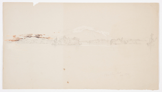 Drawing, Millinocket Lake, view of Mt. Katahdin, September 1878