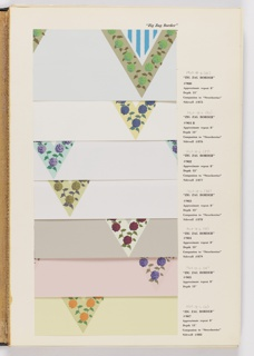 Sample Book, Border and Architectural Elements Collection, 1968