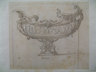 Drawing, Design for a Vessel (Sauceboat?)