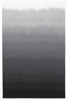 Grisaille or monochrome pattern of horizontal bands that blend from black to shades of gray to white.