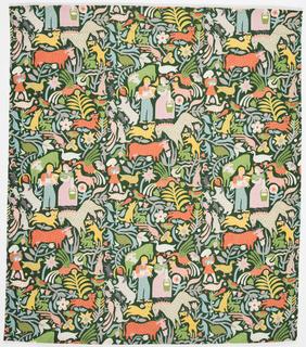 Textile, Calico Cow