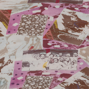 Printed primarily in pink/purple and brown on white ground with images of children and street scenes in Cambodia.