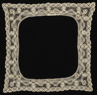 Border For Handkerchief, late 19th century
