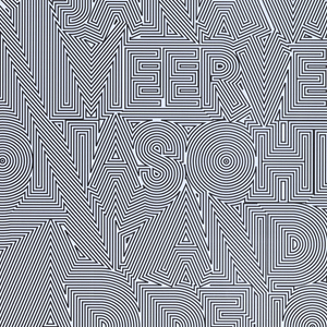 Overall linear optical pattern based on the outlines of letterforms. At lower left the logo for HorseMove ProjectSpace seems to float above the surface of the poster.
