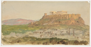 Drawing, View of the Acropolis from the South, Athens