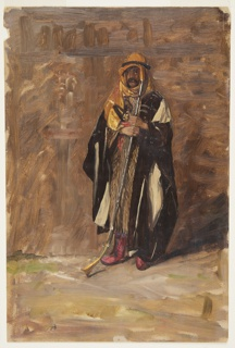 Drawing, Study of a standing bedouin, 1869