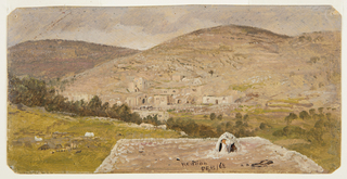 Drawing, Hebron, general view, February 1868