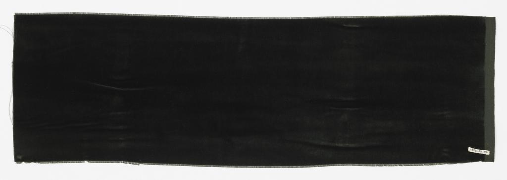 Sample of solid black cut velvet.