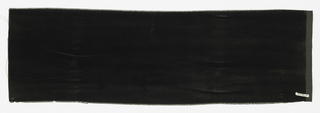 Sample of solid black cut velvet.