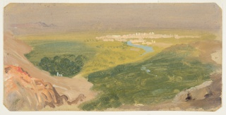 Drawing, View Towards Damascus, Syria