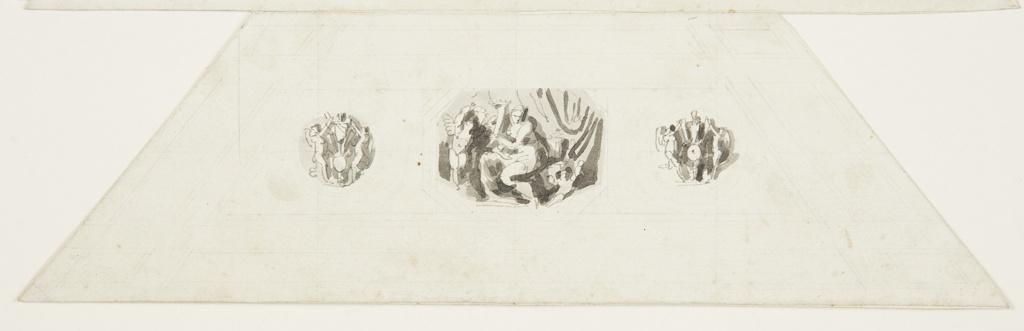 Drawing, Abundance, Vaulted Panel, Sala d'onore, Appartmento Napoleonico, Palazzo Quirinale, Rome