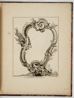 Cartouche in the Rococo style