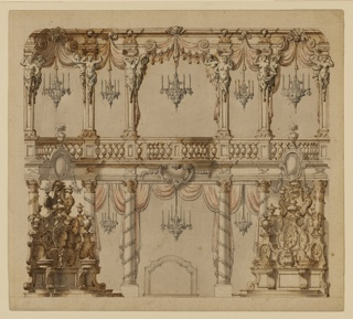 Drawing, Theater Design for a Dining Room