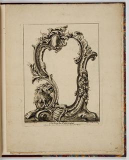 Print, Cartouche Pitoresque