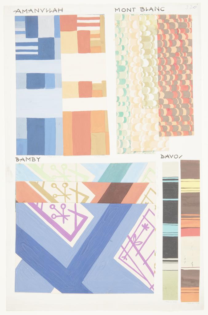 Drawing, Textile Design: Amanullah