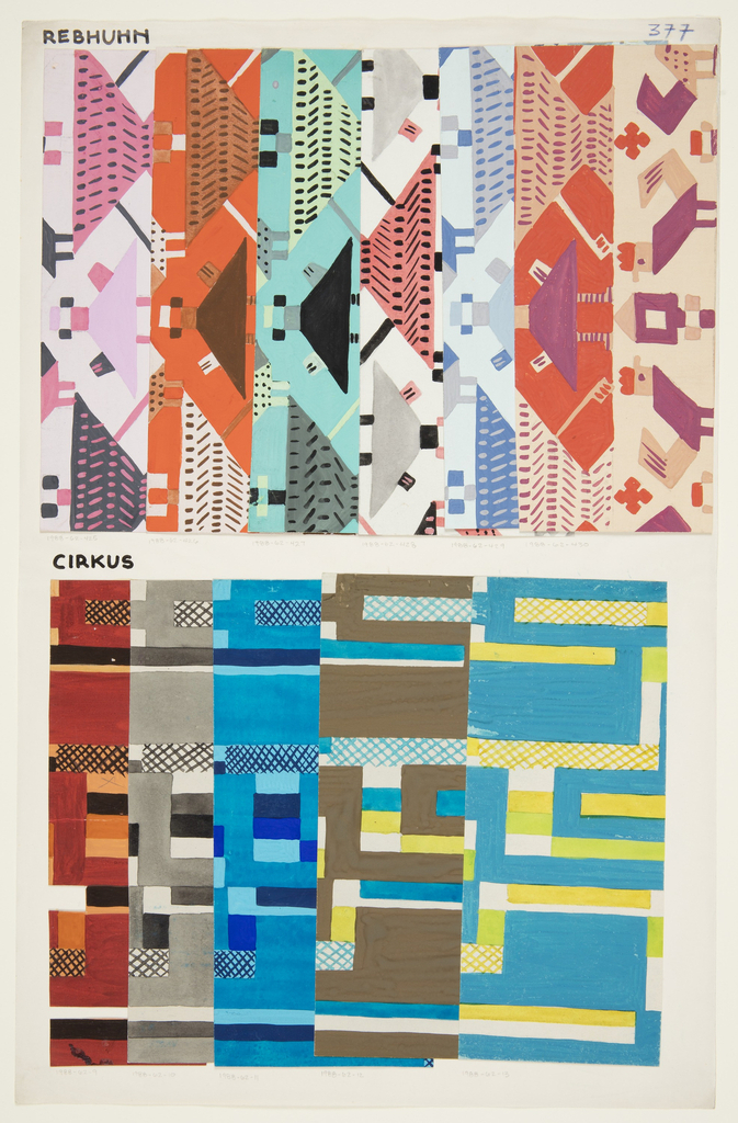Drawing, Textile Design: Circus