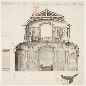 Drawing, Preliminary Design for the Salon d'Angle at the Palais Royal, Paris, France