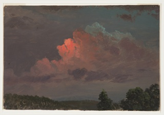 Drawing, Nightfall near Olana