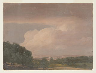 Drawing, Landscape (possibly Hudson Valley), 1860–70