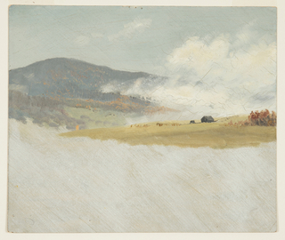 Drawing, Hilly landscapes, 1865–75