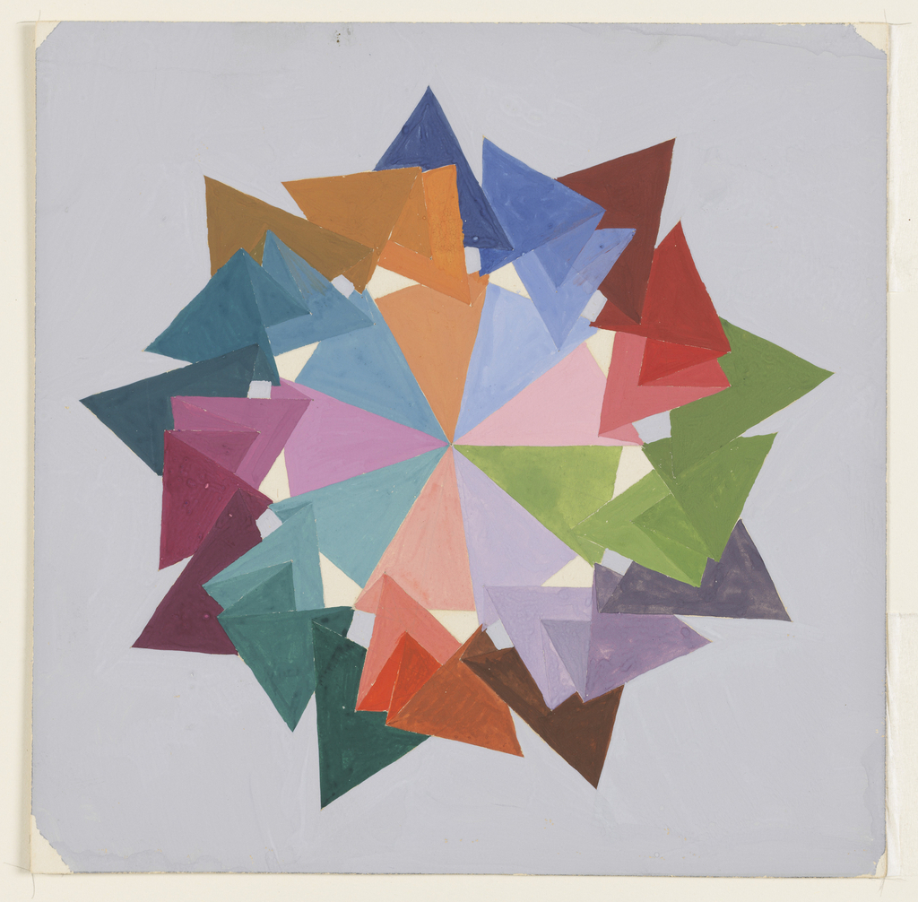 Drawing, Color Rhythm, from The Mathematical Basis of the Arts