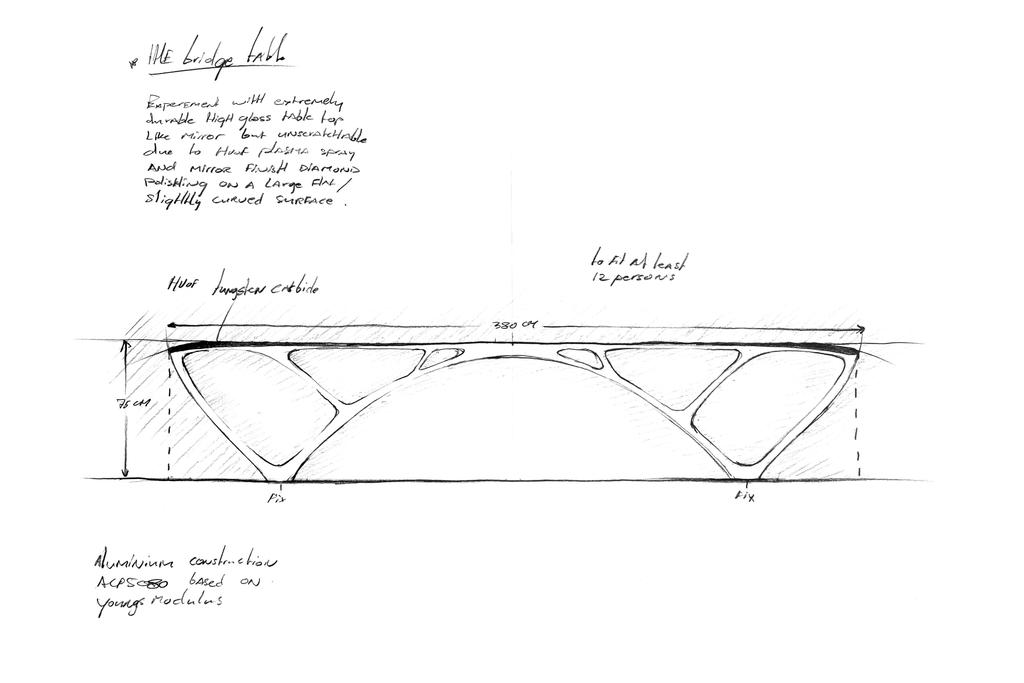 Sketch, Bridge Table, 2010