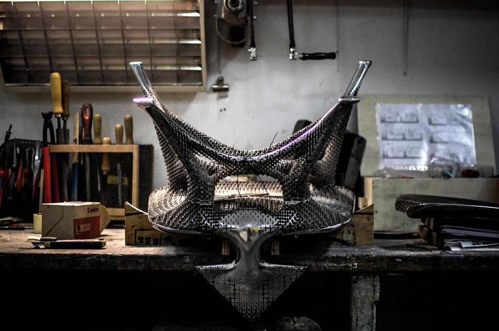 Chair, Aluminum Gradient, 2014