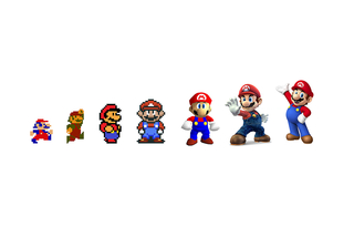 The evolution of Super Mario, 2015