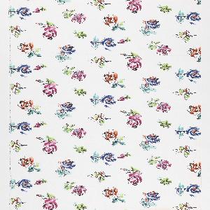 "Yard goods; a Signature Fabric, ""La Vie en Rose"" designed by Hans Moller of Associated American Artists, 1954."