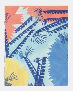 Drawing, Textile Design: Menjou