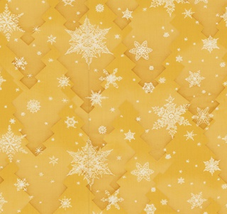 """Yard goods; a Signature Fabric, """"Snowflakes"""" designed by Charlotte Sternberg of Associated American Artists, early to mid 1950s."""