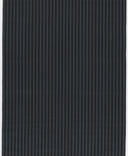 Yard goods; blue polka dot stripes on a black ground, a Soap 'n' Water design created by Associated American Artists, 1957.