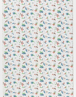 "Yard goods; a Signature Fabric, ""Flower Fantasy"" designed by Arnold Blanch of Associated American Artists, 1952-1957."