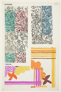 Drawing, Textile Design: Aussee, 1911–14