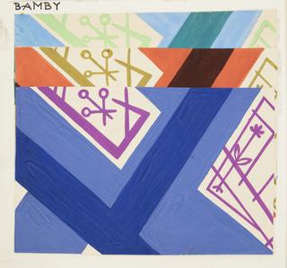Drawing, Textile Design: Bambi