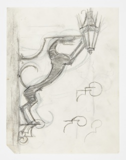 Drawing, Design for Sconce, Hound