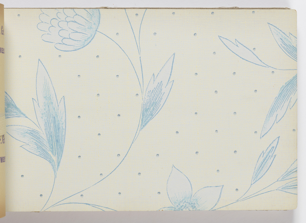 Variety of floral designs, each shown in jultiple colorways. All are printed with a relief texture.