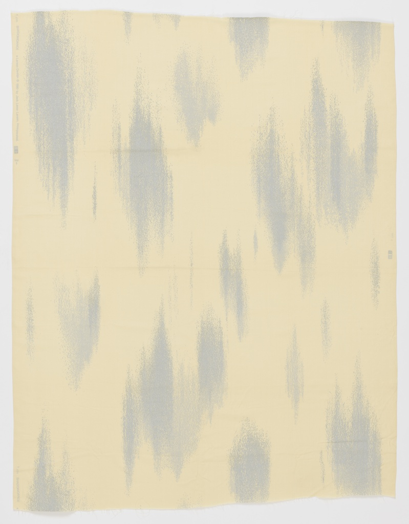 Ikat-like textured length in light blue and white.