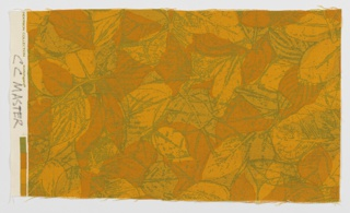 Length with a leafy pattern in dark yellow, orange and green.
