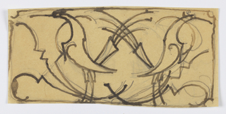 Drawing, Design for Grillwork, Two Birds