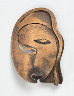 Brooch in the form of a cubist face